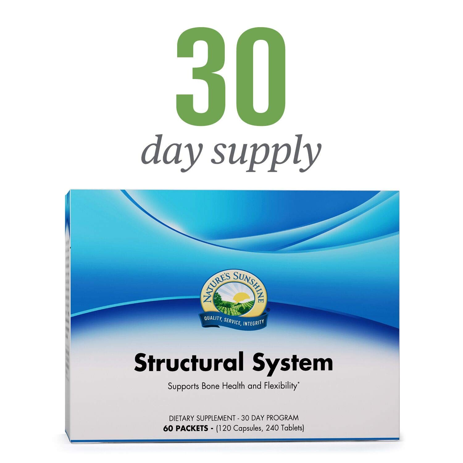 Nature's Sunshine Structural System Vitamin Pack, 30 Day | Complete Program of Skeletal and Joint Supplements for Men and Women with Glucosamine, Chondroitin, and MSM