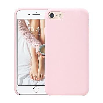 Fuleadture Funda iPhone 8, iPhone 7 Slim Líquido de Silicona Gel Carcasa Alta Calidad Anti-Rasguño y Resistente Huellas Dactilares Totalmente ...