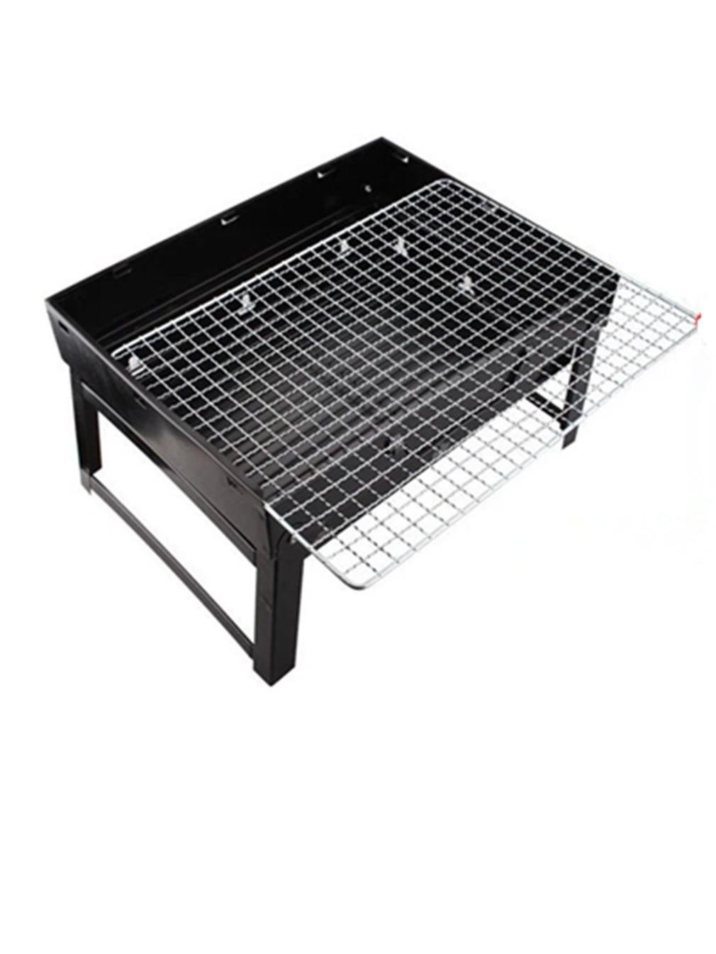 Amazon.com : Folding Home Barbecue Grill Outdoor Portable Charcoal BBQ Stove, Stainless Steel Black. : Sports & Outdoors