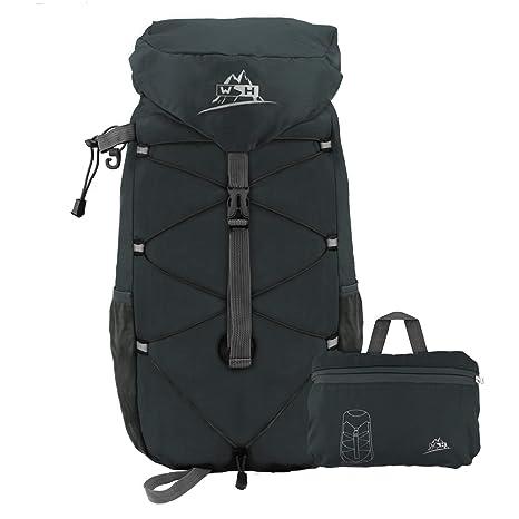 WHCREAT 35L Packable Hiking Mochila, Resistente al Agua Práctico Ligero Plegable Mochila de Viaje (