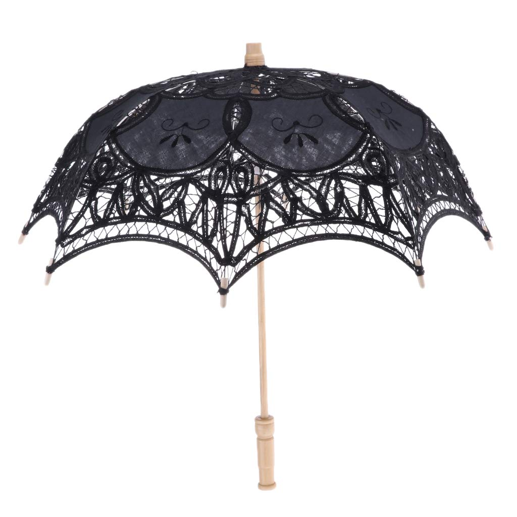 SM SunniMix Ombrelle Mariage en Coton avec Dentelles R/étro Parasol Parapluie D/écoration de Mariage Mari/ée Parapluie Fait /à La Main
