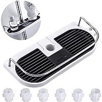 Kunststof doucheplank, badkamerrek, doucheplank, zonder boren te monteren, geschikt voor alle diameters van 19 tot 25 mm
