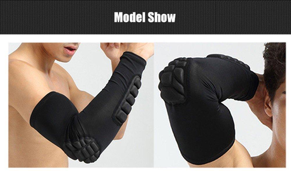 RAILONCH Single Arm-/Ärmel Arm Elbow Sleeve Pad Basketball Shooter Sleeve Compression Arm Sleeve Protector Unterst/ützung
