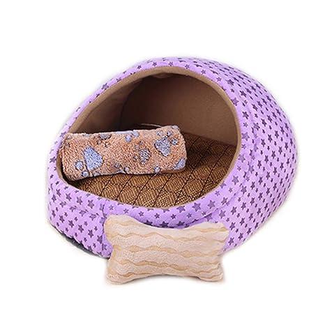 Figura de estrella púrpura Nido de mascotas extraíble y lavable Perros pequeños y medianos Alfombra de