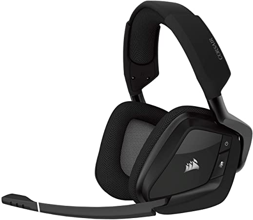 Amazon Com Corsair Void Pro Rgb Wireless Gaming Headset Dolby 7 1 Surround Sound Headphones For Pc Discord Certified 50mm Drivers Carbon Computers Accessories