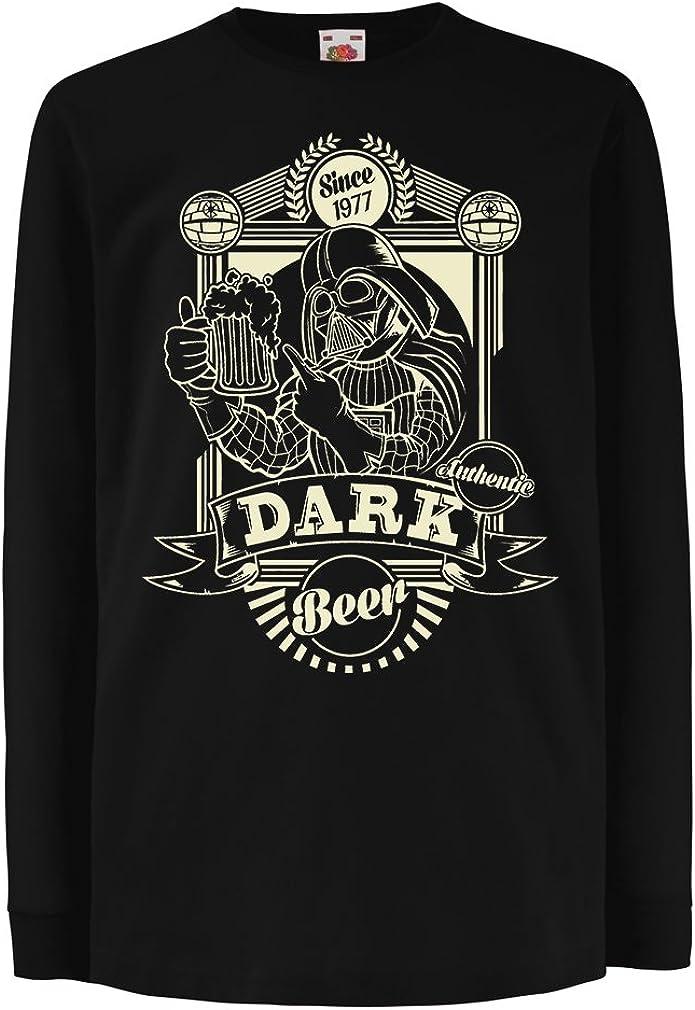 N4346D La Camiseta de los niños con Mangas largas Cerveza Oscura