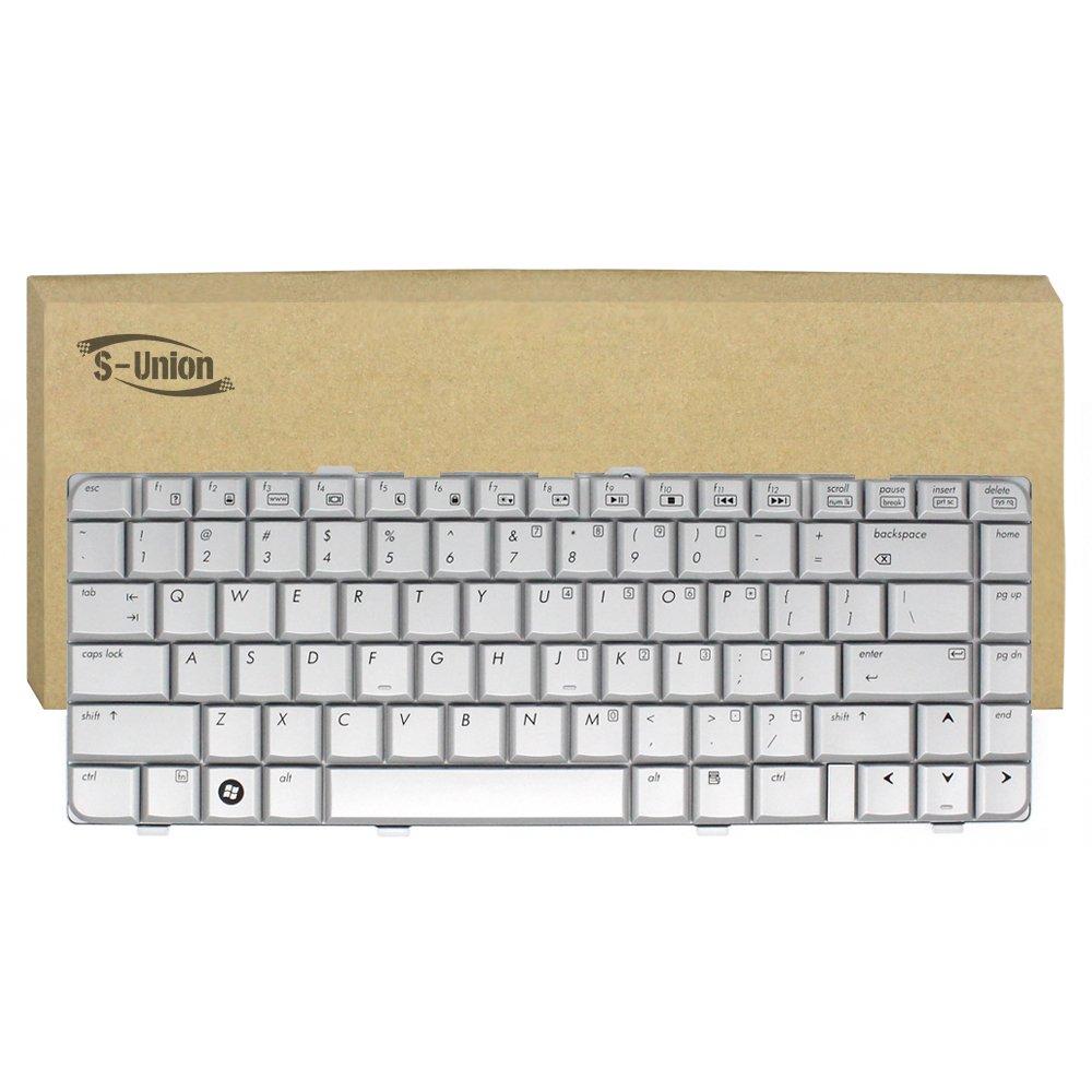 S-Union New Silver US Layout Laptop Replacement Keyboard for HP Pavilion dv6000 dv6100 dv6200 dv6300 dv6400 dv6500 dv6600 dv6700 dv6800 dv6900 Series