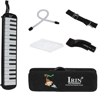 D DOLITY IRIN 32 Piano Keys Melodica Instrumento Musical con Estuche Rígido - Negro: Amazon.es: Juguetes y juegos