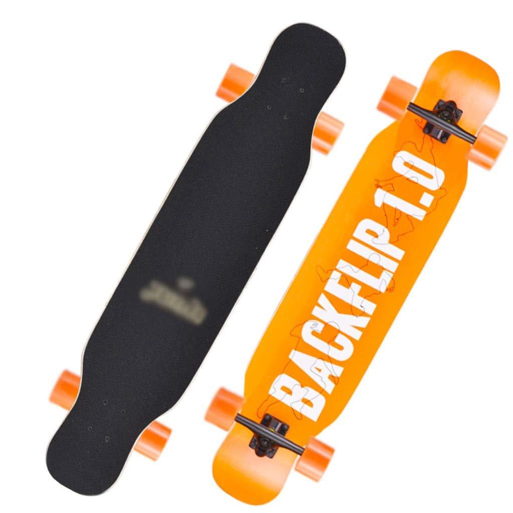 DUWEN スケートボードデッキ大人の女の子四輪スクータープロのボードメープルロングボード初心者ティーンブラシストリートダンスボード (色 : F f) B07S59MW94 F f