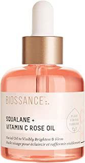product image for Biossance Squalane + Vitamin C Rose Oil - Lightweight Brightening + Firming Facial Oil - No Parabens or Synthetic Fragrance - Vegan + Fragrance-Free (30ml)