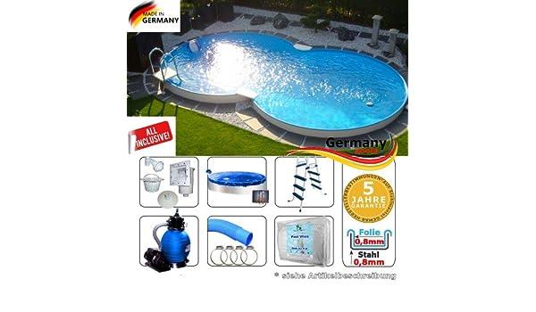 Ocho Forma Pool 4, 70 x 3, 00 x 1, 35 Set piscina Ocho Forma ...