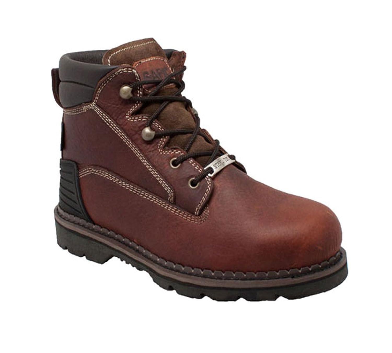 Safaメンズブラウン6 in Steel Toe Work Boot Tumbled Leather Brown 11.5  B00WN1NMHW