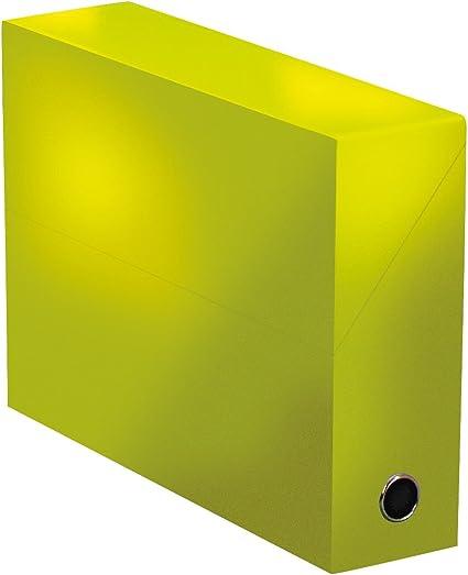 Elba 400080241 color life – Caja de transferencia ancho 9 cm 34 x 25,5 cm) Plastificado Verde verde: Amazon.es: Oficina y papelería