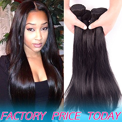 Full For One Head 8A Brazilian Virgin Human Hair 3 Bundles Straight Cheap Unprocessed Peruvian Remy Hair Weave Low Wholesale Price Best Real Indian Natural Color Hair Weft Deals 10 10 10 inch