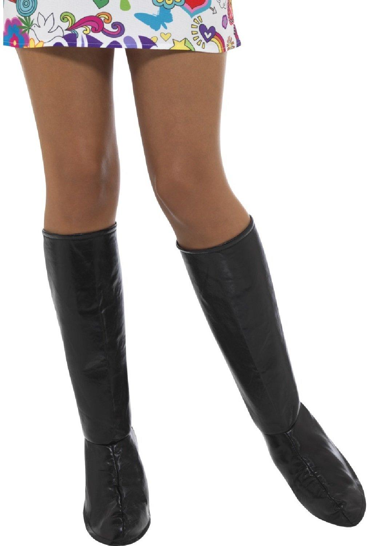 Gogo Girl Go Go 60s 70s Hippie Hippy Shoe Fancy Dress Costume Boot Top Covers