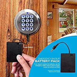Advanced Security TurboLock Keyless Smart Lock – with Automatic Locking, Battery Backup & Easy Installation