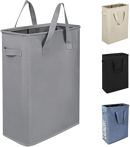 Chrislley Hanging Laundry Hamper Bag Hanging Bag for Laundry Over The Door Laundry Hamper Hanging Laundry Basket Extra Large-Upgrade Grey