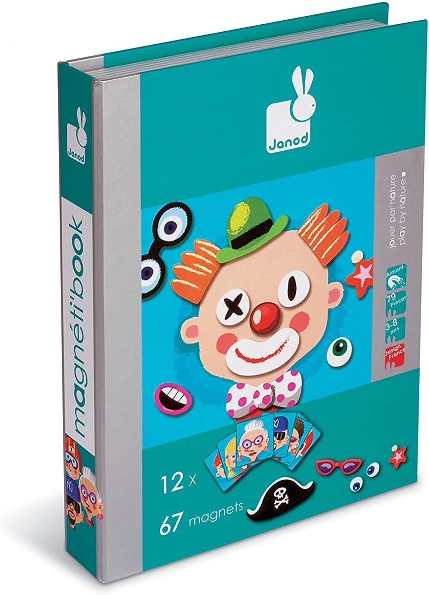 Janod- Magnetibook Crazy, Face (05545): Amazon.es: Juguetes y juegos