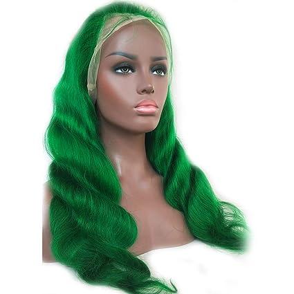 Amazon.com : Human Hair Wigs Green Full Lace
