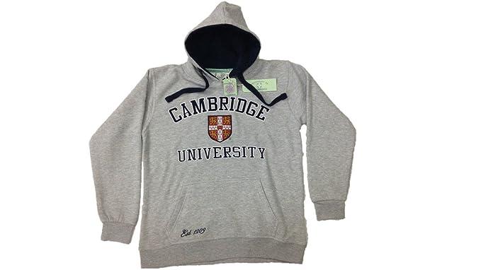 Cambridge University - Sudadera con Capucha - para Hombre Gris Gris X-Small