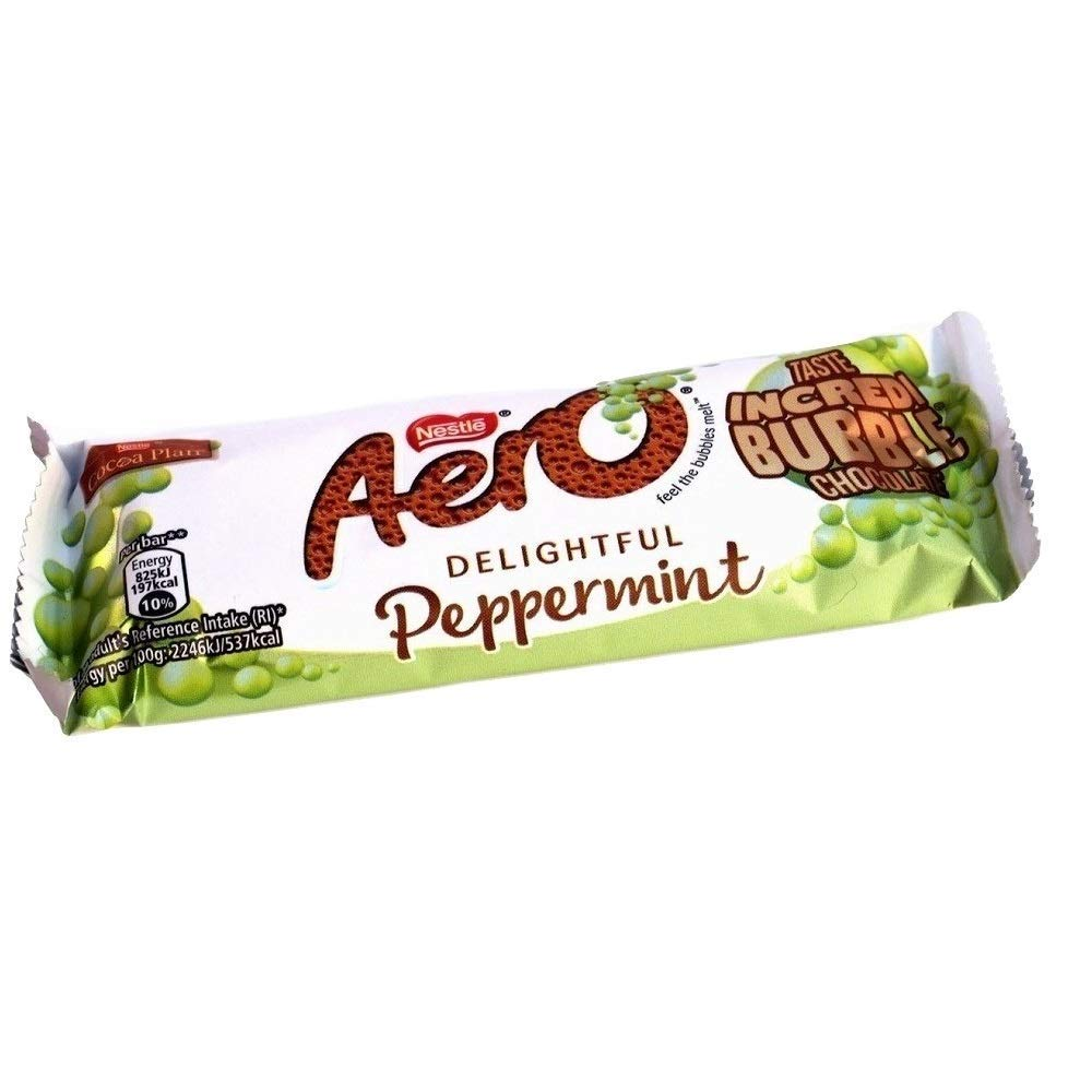 Nestle Aero Mint Chocolate Bar 27g (Pack of 4)