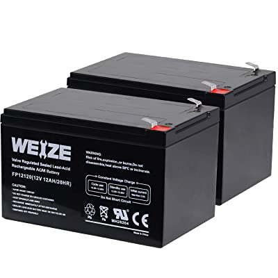 Weize 12 Volt 12AH SLA Rechargeable Battery Replace UB12120