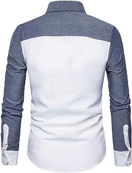 Winwintom -Camisas Hombre Camisas Hombre, Camisa Casual Manga con ...
