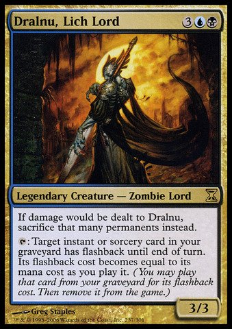 Magic: the Gathering - Dralnu, Lich Lord - Time Spiral