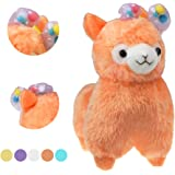 """KSB 7.3"""" Watermelon Red Cute Soft Stuffed Plush Bow Alpaca Cushion Toy Doll,Best Birthday Christmas Gifts For The Children Kids Over 2 Years"""