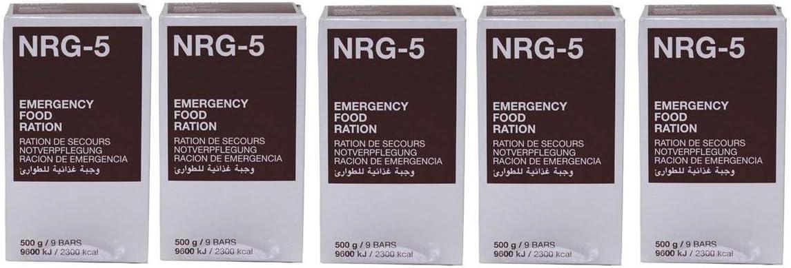 Thomas Liebold Armeeverkauf - Alimento de emergencia comprimido NRG-5, 5 raciones: Amazon.es: Deportes y aire libre