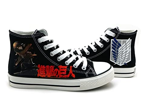 Attack on Titan Shingeki No Kyojin Mikasa Cosplay Shoes Canvas Shoes Sneakers