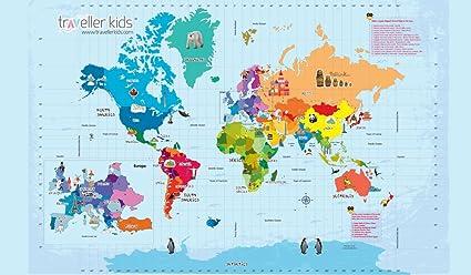 Buy Coco Moco Kids Interactive World Map Kit Yrs Online At - Online interactive world map