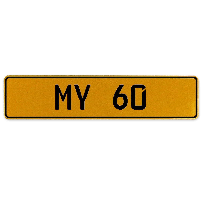 Vintage Parts 555902 1 Wild 18 White Stamped Aluminum European License Plate