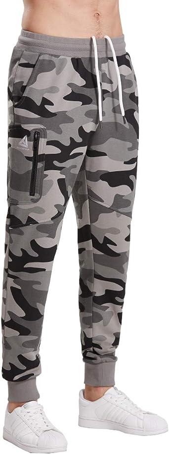 Extreme Pop Hombre Pantalones de chándal Militares de Camuflaje ...