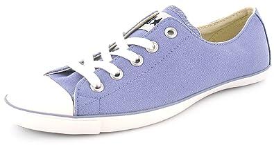 New Ladies Womens Purple Converse All Star Ox Light Slim Fit Plimsolls -  Purple - d5e069412