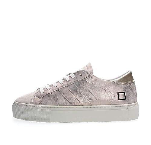 finest selection 91a76 3b256 D.A.T.E... - Donna Vertigo Stardust Platinum Scarpa Sneakers ...