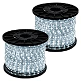 GotHobby 300' Cool White 2-wire 110v LED Rope Light Home Outdoor Boat Christmas Lighting