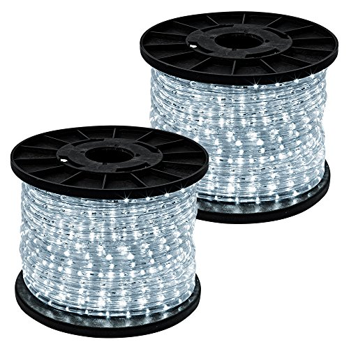 GotHobby 300' Cool White 2-wire 110v LED Rope Light Home Outdoor Boat Christmas Lighting by GotHobby