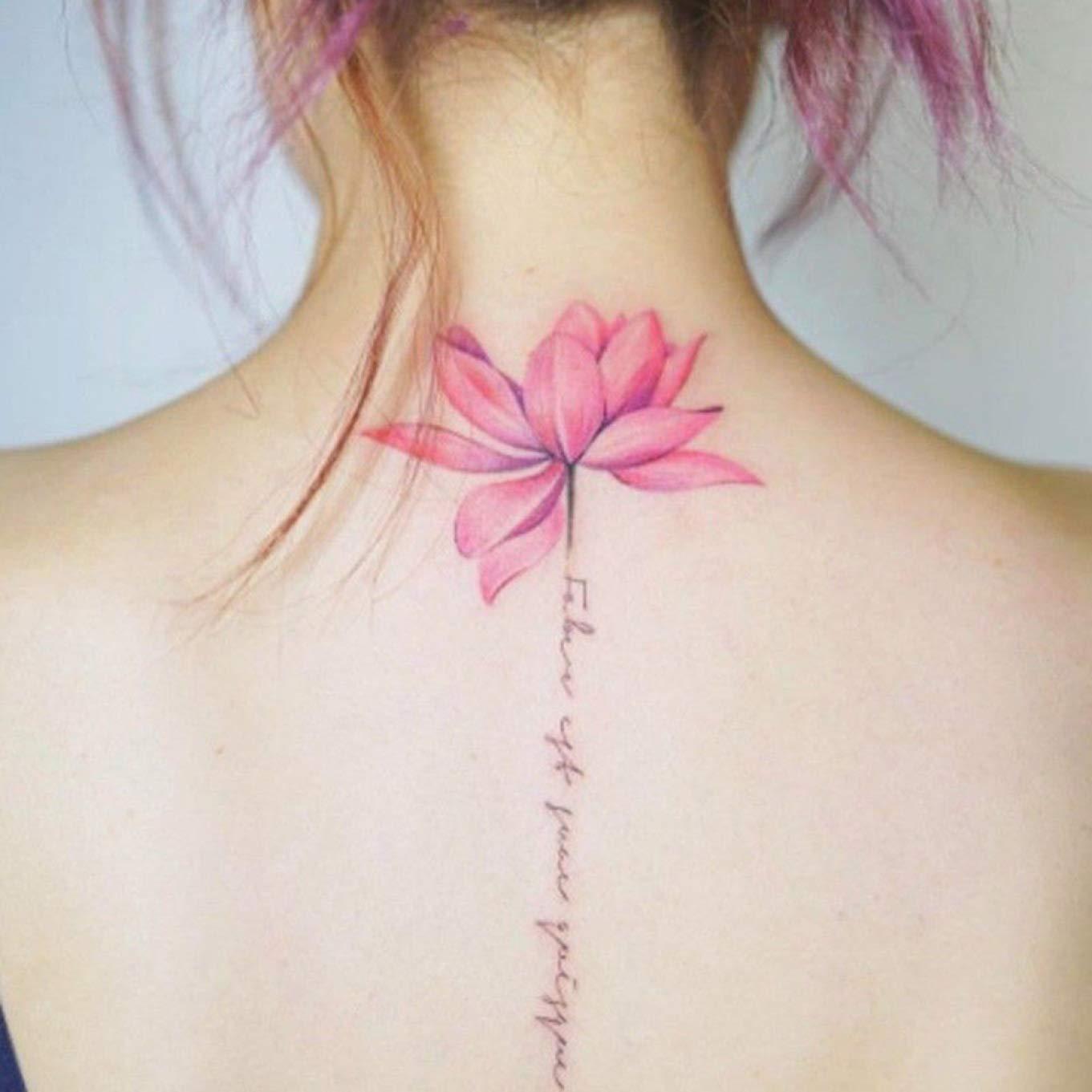 Wondergirls Extraordinary 1pc Lotus Flower Temporary Tattoos Stickers Body Art 3d Lotus Tatoo Waterproof None H03 Amazon In Beauty