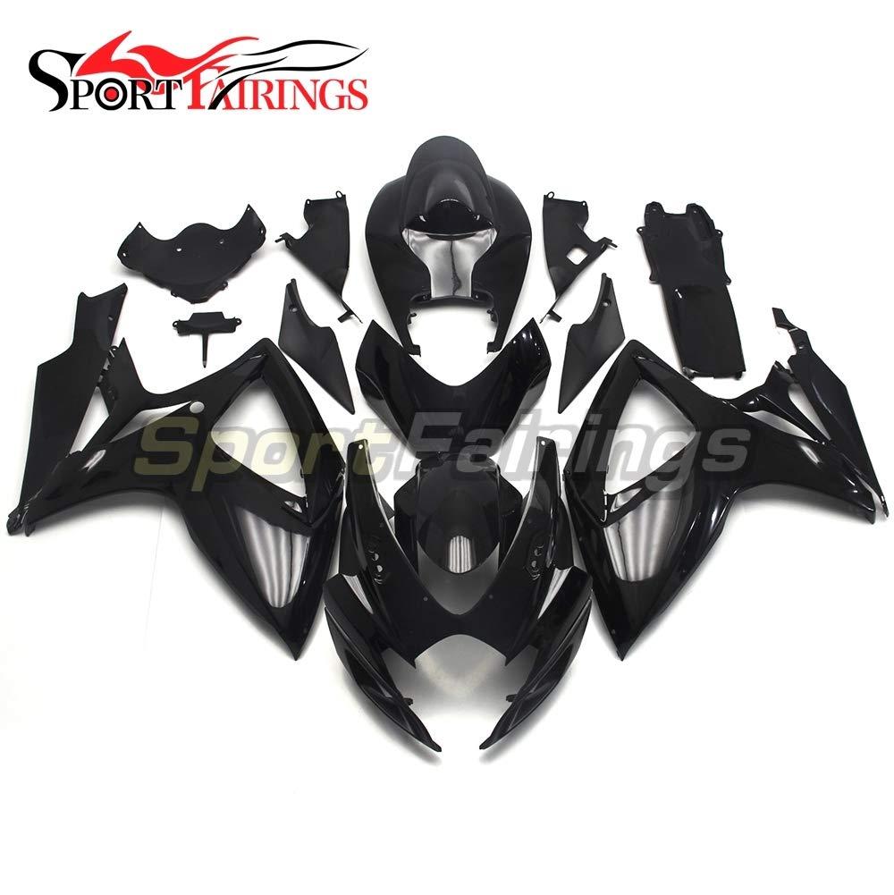 SPMOTO オートバイ外装部品適応モデル スズキ GSX R750/600 GSXR 750 600 年 2006 2007 明るい黒完全カウリング   B07DWSX6RC