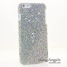 "BlingAngels® Luxury Bling iphone 6s PLUS, 6 PLUS (5.5"") Case Cover Faceplate Swarovski Crystals Diamond Sparkle bedazzled jeweled Design Back Snap-on Hard Case (100% Handcrafted by BlingAngels) (Authentic AB Clear Crystals Design)"