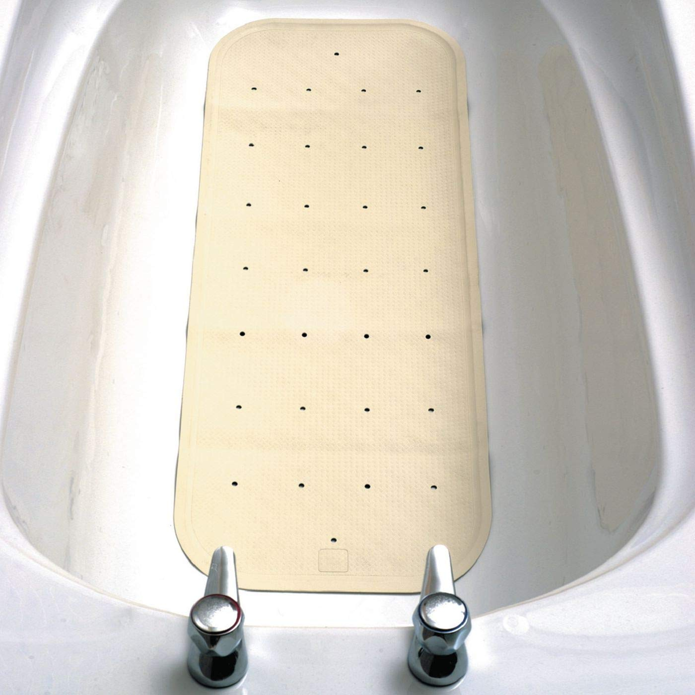 standard or Sit Shower Mat Bathtub and Shower Mat Non-Slip Shower Pad with Drainage Holes Homecraft Extra Long Bath Mat Made with Suction Cups for Grip and Quality Rubber Perforated Shower Mat