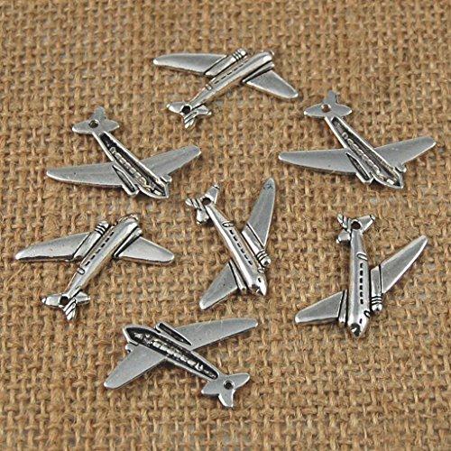 10pcs Pendentifs Charmes D'avion Bricolage Fabrication de Bijoux