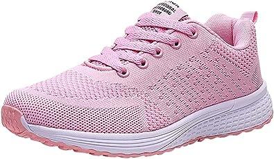 Logobeing Zapatillas Deportivas de Mujer Sneakers Zapatos Adulto Rojo Negro Blanco Malla Suave Antideslizante Cómoda Zapatillas Mujer de Running (38, Rosado -G88): Amazon.es: Zapatos y complementos