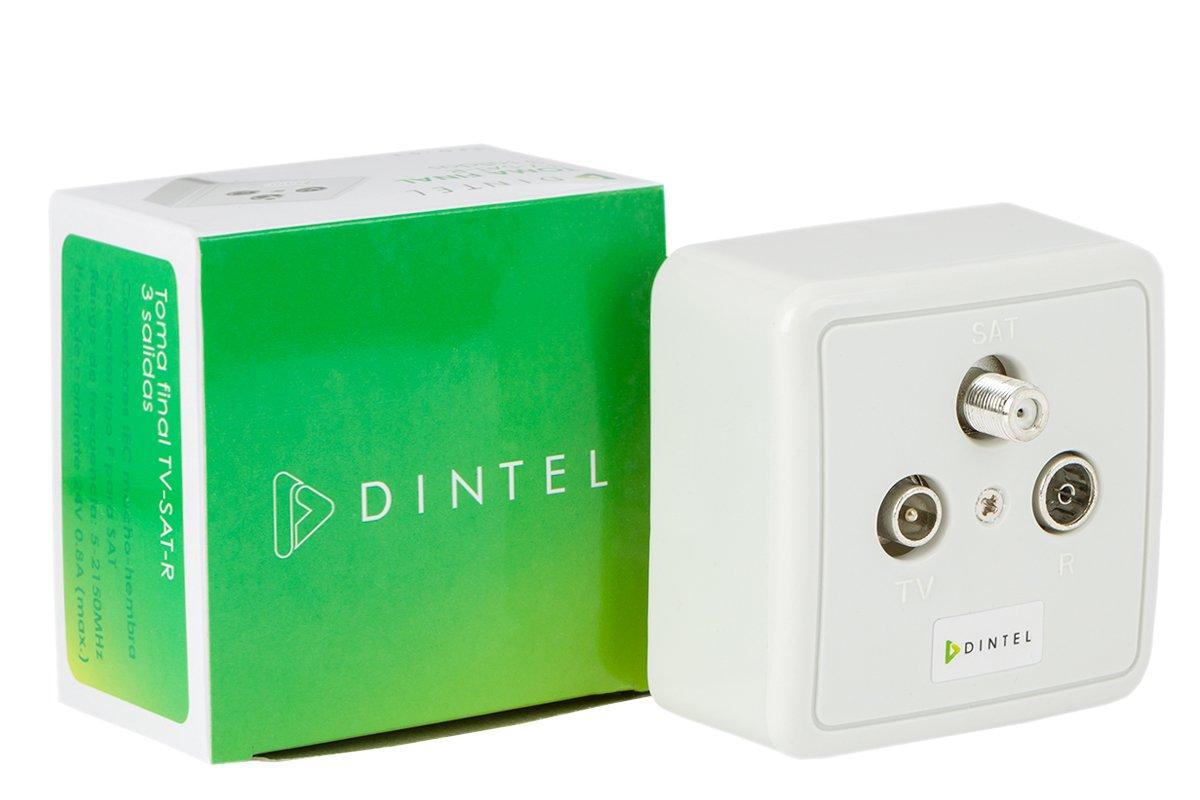 Dintel - Toma separadora final TV-SAT-R 3 salidas: Amazon.es: Electrónica