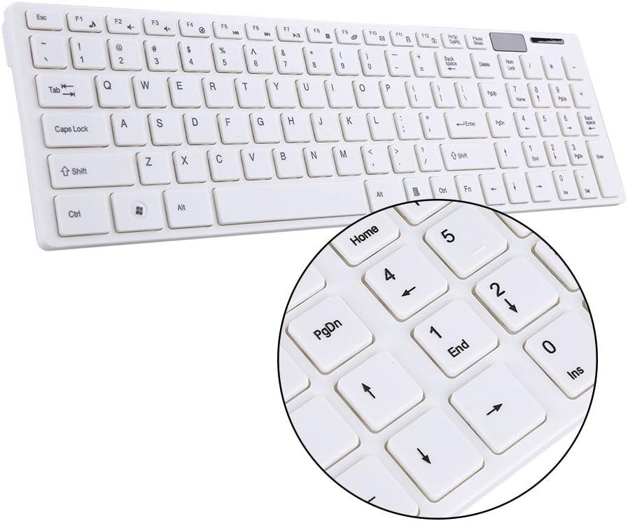 Couleur : Blanc 2.4G Optique Ensemble Clavier Et Souris Souris Sans Fil USB R/écepteur Combo Kit Pour Ordinateur PC MAC