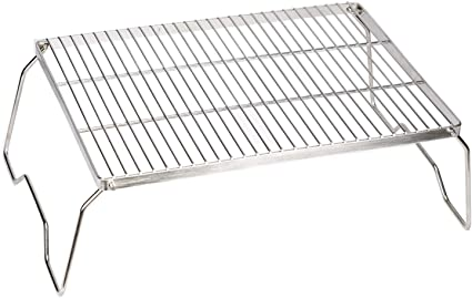 Backpacking for Camping POHOVE Heavy Duty Over Fire Camp Grill,Folding Campfire Grill 304 Stainless Steel Grate,Portable Camping Grill with Legs and Carrying Bag Trekking Etc.