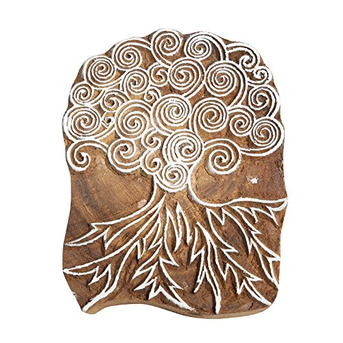 CRAFTSTRIBE Wooden Printing Block Tree Designed Printing, used for sale  Delivered anywhere in Canada