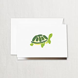 product image for Crane & Co. Brushstroke Turtle Note- Pack of 20 Cards
