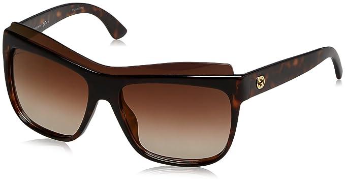 Gucci GG 3782/S Gafas de Sol, Dark Havana, 57 para Mujer ...